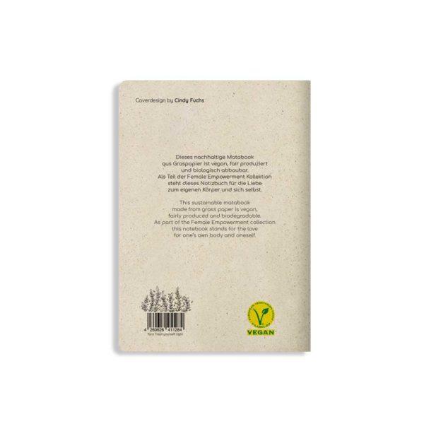 Notizbuch Tara Teat yourself right – Rückseite