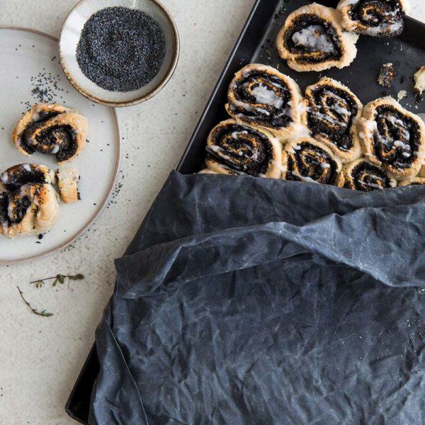 Bienenwachstücher blau – Gr. XL – Kuchen