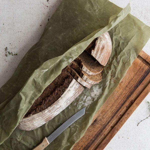 Bienenwachstücher grün – Gr. XL – Brot