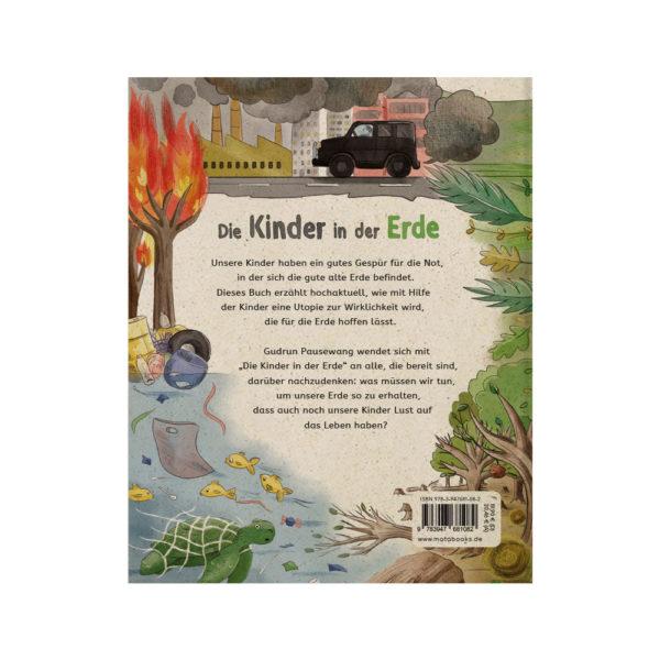 Kinderbuch – Die Kinder in der Erde – Rückseite