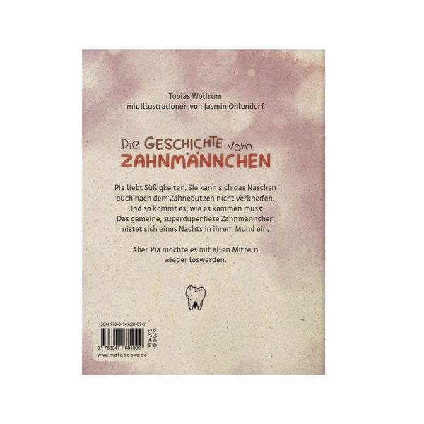 Kinderbuch – Die Geschiche vom Zahnmännchen – Rückseite