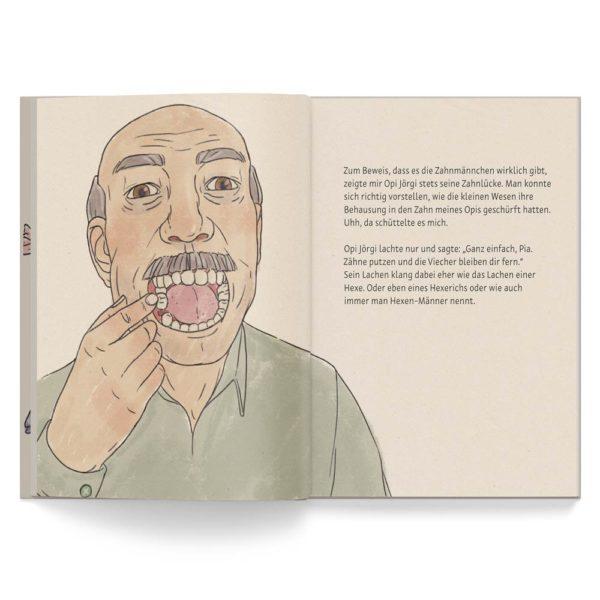 Kinderbuch – Die Geschiche vom Zahnmännchen – Leseprobe 1