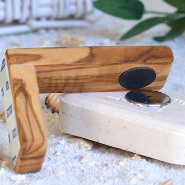 Magnetseifenhalter groß aus Olivenholz von Olivenholz-erleben