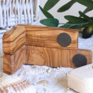Magnetseifenhalter klein und groß aus Olivenholz von Olivenholz-erleben