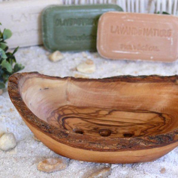 Seifenschale rustikal mittel aus Olivenholz von Olivenholz-erleben