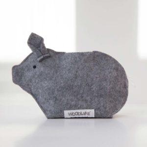 Sparschwein Piggy Bank grau von Woodlane