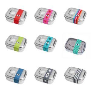 Brotdose Zweier mit Gummiband wähle deine Farbvariante