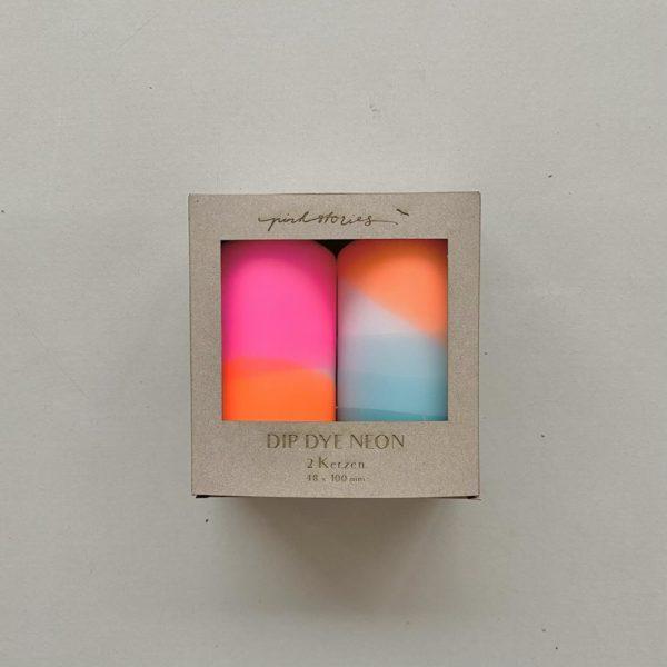 Stumpenkerzen Dip Dye 2er Set Cotton Candy von Pink Stories