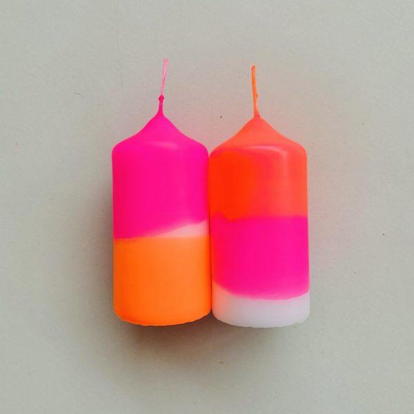 Stumpenkerzen Dip Dye 2er Set Fairy Tale von Pink Stories