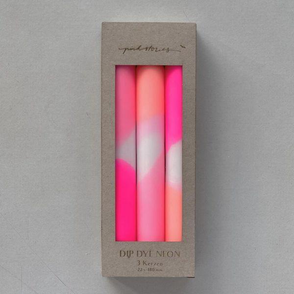 Stabkerzen Dip Dye 3er Set Flamingo Dreams von Pink Stories