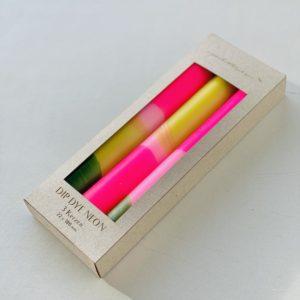 Stabkerzen Dip Dye 3er Set Green Splash von Pink Stories