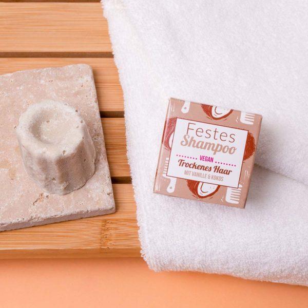 Festes Shampoo Vanille Kokos von Lamazuna