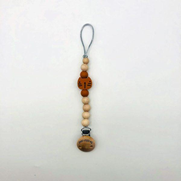 Schnullerkette Pippa – caramel 1