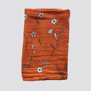 Mulltuch Blumen orange von Jut & Julie