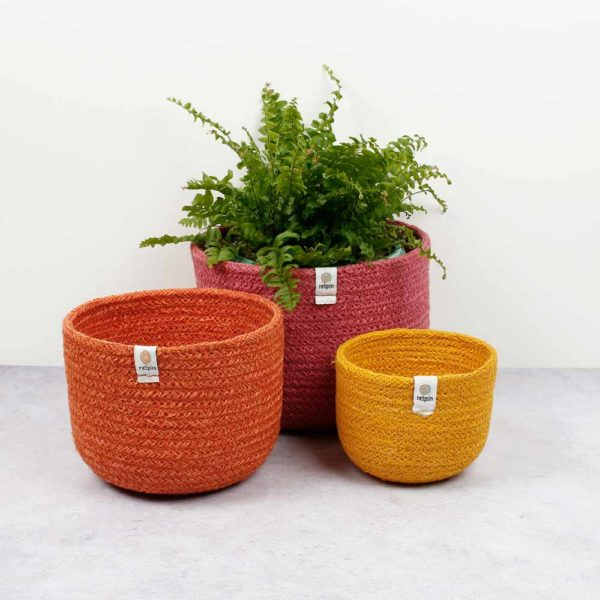 Korb-Set aus Jute fire - 3er Set 1