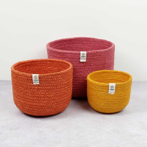 Korb-Set aus Jute fire - 3er Set 4