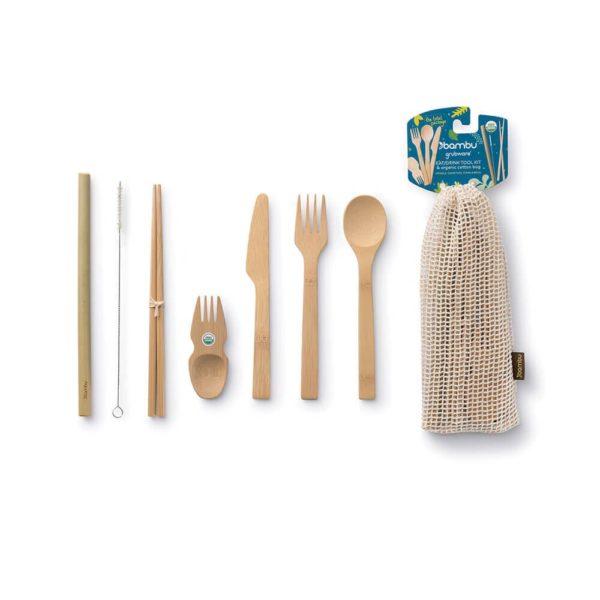 Eat and Drink Besteck-Set mit 7 Teilen von Bambu