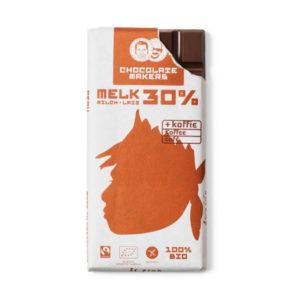 Bio-Schokolade Awajun 30% mit Kaffee von Chocolatemakers