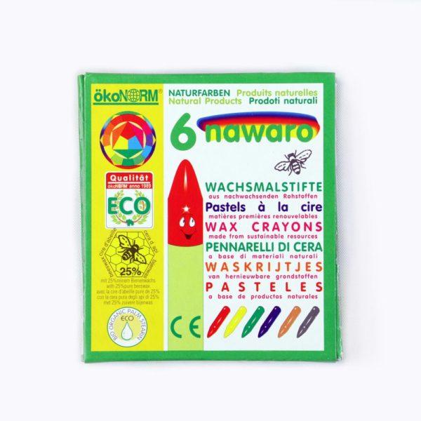 Wachsmalstifte Nawaro 6 Farben von Ökonorm