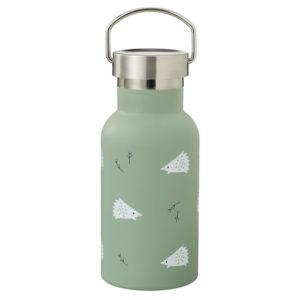 Kinder-Thermosflasche Nordic hedgehog mit Edelstahldeckel von Fresk