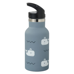 Thermosflasche Nordic whale blue fog mit Sport Cap von Fresk