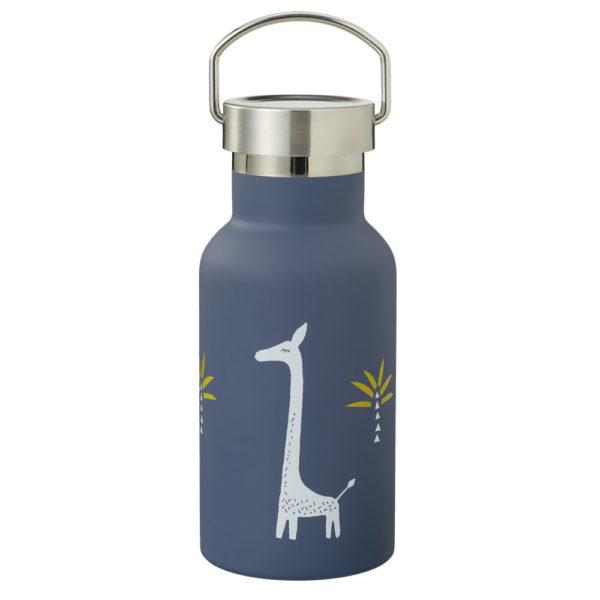Thermosflasche Nordic giraf mit Edelstahldeckel von Fresk