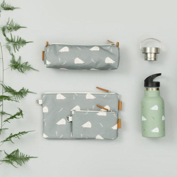 Flasche, Federmäppchen und Geldbörse hedgehog von Fresk