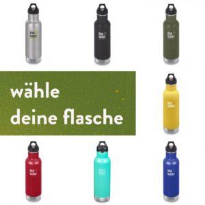 Isolierflasche Kanteen Classic Vakuumisoliert mit Loop Cap 592 ml – wähle deine Farbe