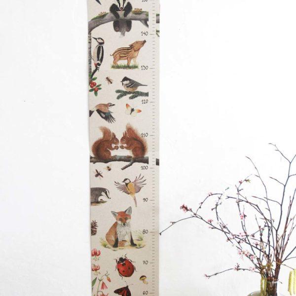Kinder-Messlatte aus Graspapier von Brigitte Baldrian
