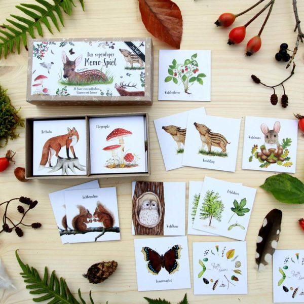 Memo-Spiel Im Wald von Brigitte Baldrian