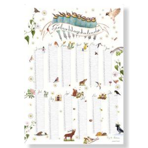 Poster Geburtstagskalender in DIN A3 von Brigitte Baldrian