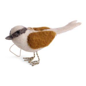 Vogel Filz gold brown von Én Gry & Sif