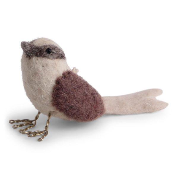 Vogel aus Filz lavender von Én Gry & Sif