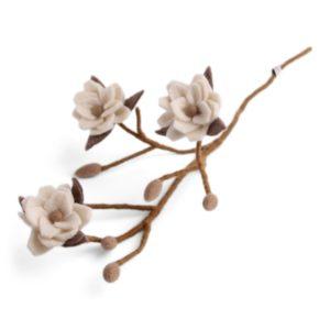Magnolienzweig Filz white von Én Gry & Sif