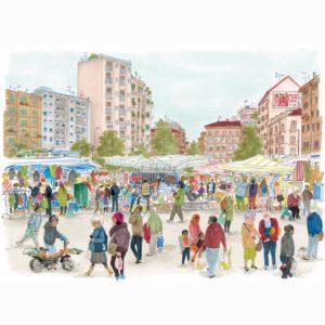 Kinderbuch Ein Markttag von Bohem