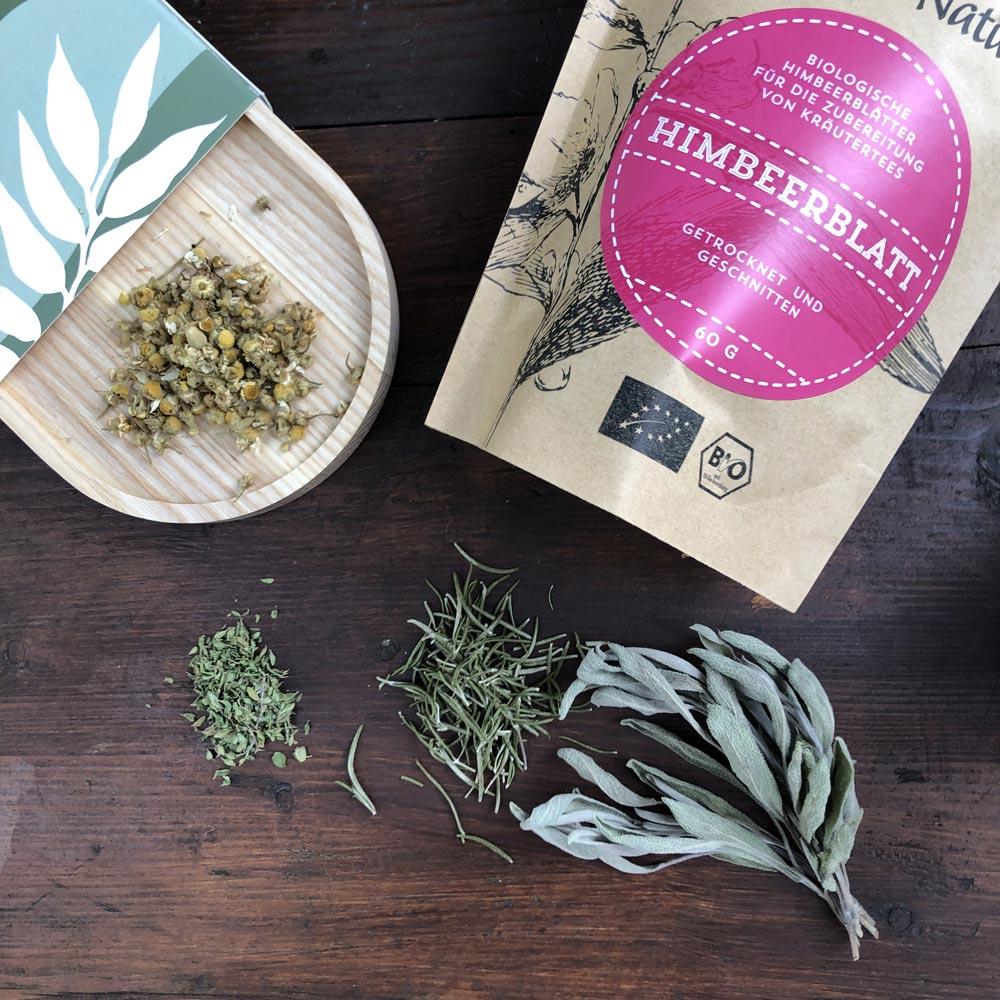 Tee selbst mischen mit Himbeerblatt von Vita et Natura