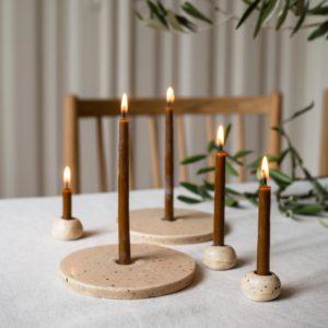 Kerzenhalter und Kerzenkiesel
